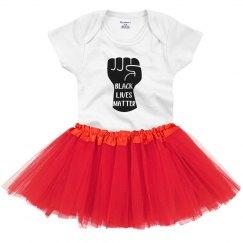 Black Lives Matter Infant Onsie Bodysuit With Tutu