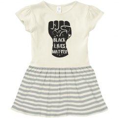 Black Lives Matter Infant Baby Rib Dress