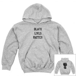 Black Lives Matter Front & Back Design Youth Sweatshirt