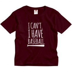 Youth Baseball Tee