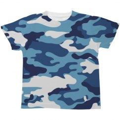 Blue Camo Kids All-Over-Print