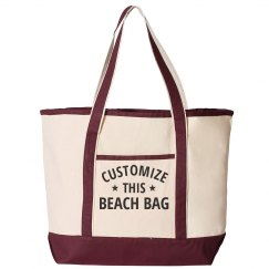 Custom Beach Vacation Totes