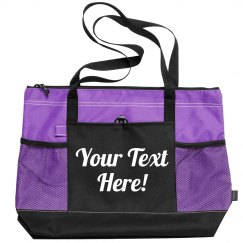 Customizable Script Beach Bag