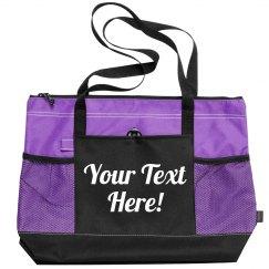 Customizable Script Beach Bag