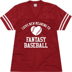 A Clever Jersey for a Girl Who Loves Fantasy Baseball