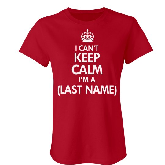 77b571f15 Keep Calm Family Reunion Ladies Slim Fit Favorite T-Shirt