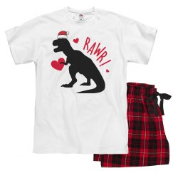 Dinosaur Christmas pajamas for adults