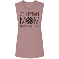 Trendy Volleyball Mom Muscle Tank