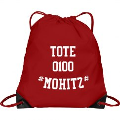 MOHITZ TOTE BAG (RED & WHITE)