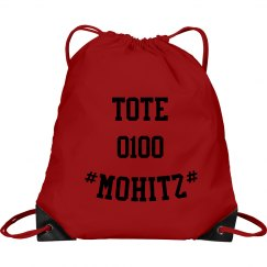 MOHITZ TOTE BAG (RED & BLACK)