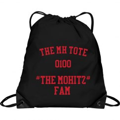 THE MOHITZ FAM TOTE (BLACK & RED)