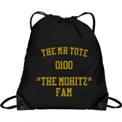 THE MOHITZ FAM TOTE( BLACK & GOLD)
