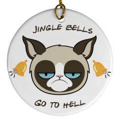 Grumpy cat decoration