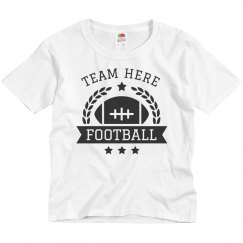 Custom Kids Youth Football Team Tee