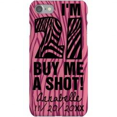 Pink 21 Zebra Case