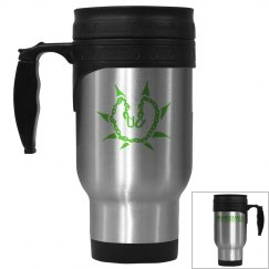 Stainless Steel & Green Mug