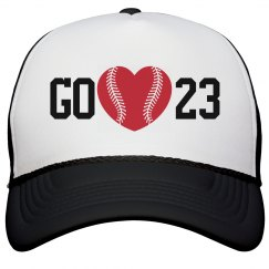 Baseball Girlfriend Love Hat With Custom Number