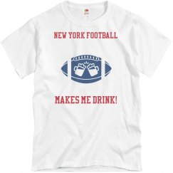Blue New York Football