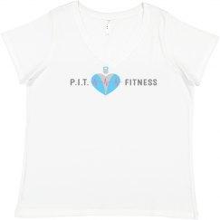 Ladies Curvy PIT Fitness Tee