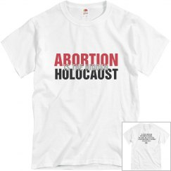 Abortion Is The Hidden Holocaust Mens Basic Tee