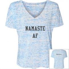 Namaste AF v-neck tee