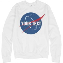 Custom Text on Nasa Logo Sweater