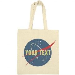 Custom Text Nasa Logo Science Gift