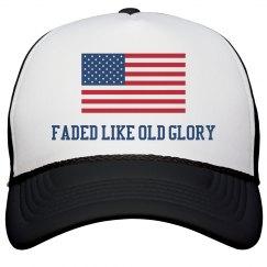 Faded Like Old Glory USA Flag Drinking Cap