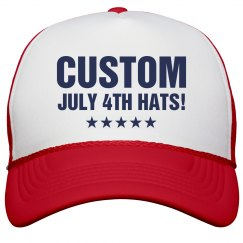 Custom July 4th Hats For Parties