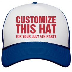 Customize This July 4th Hat