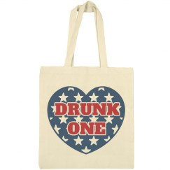 Drunk 1 BFF July 4th USA Tote