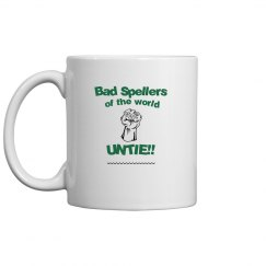 Bad Spellers Mug green