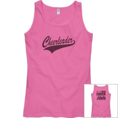 Cheer tank- pink/dark grey