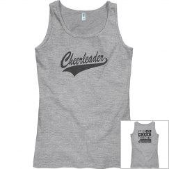 Cheer tank- pink/dark grey