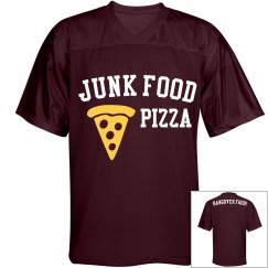 Junk Food Pizza Maroon Jersey