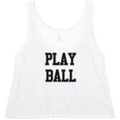 Play Ball Crop Top