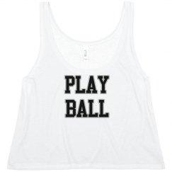 Play Ball Crop Top
