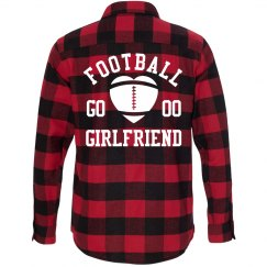 Football Girlfriend Fall Fashion Flannel With Number