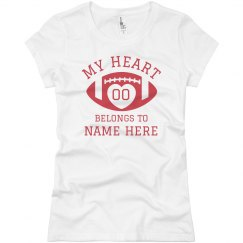 Football Girlfriend Custom My Heart