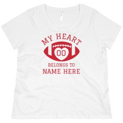 Plus Size Mom Football Number