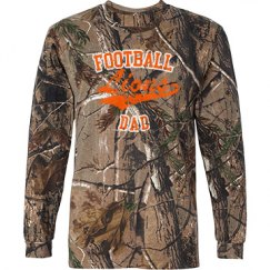Camo Vintage Football Dad Long sleeve