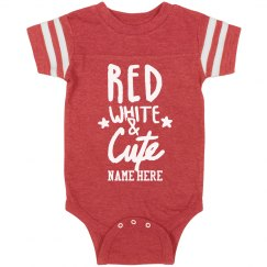 Customizable Red White Cute