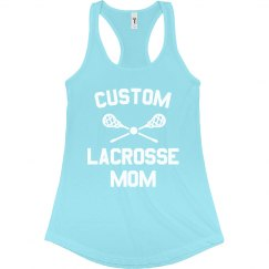 Custom Trendy Lacrosse Mom