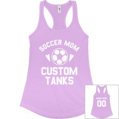 Custom Trendy Soccer Mom Tank