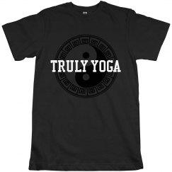 Truly Yoga Men/Unisex T-shirt (yin/yang)