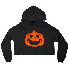 Pumpkin Cutie Crop Hoodie