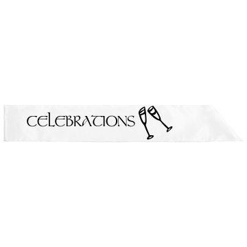 Celebrations Sash