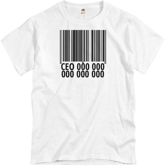 CEO Bar Code MEN'S Tee