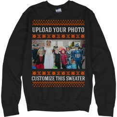 Custom Photo Upload Halloween Ugly Sweaters