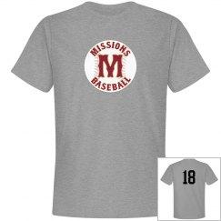 Men's baseball logo number back